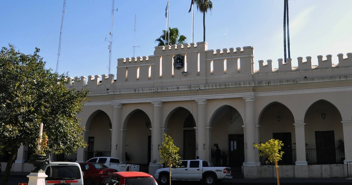 Police headquarters in Salta on Aug. 3, 2011.</p>