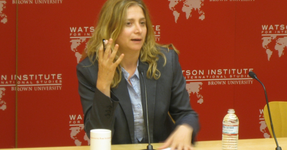 "Syrian author Samar Yazbek talks about her book ""A Woman in the Crossfire"" at Brown University.</p>"