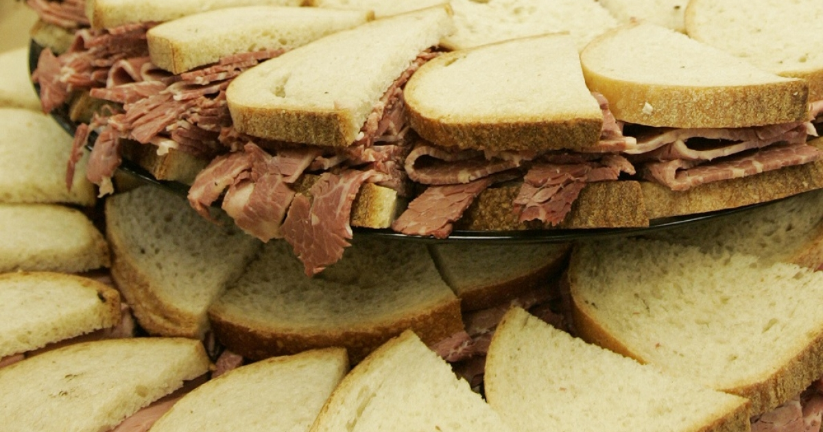 The story goes that the fourth Earl of Sanwich invented the popular snack when he asked for beef to be served between bread so that he could continue to play cards uninterrupted.</p>