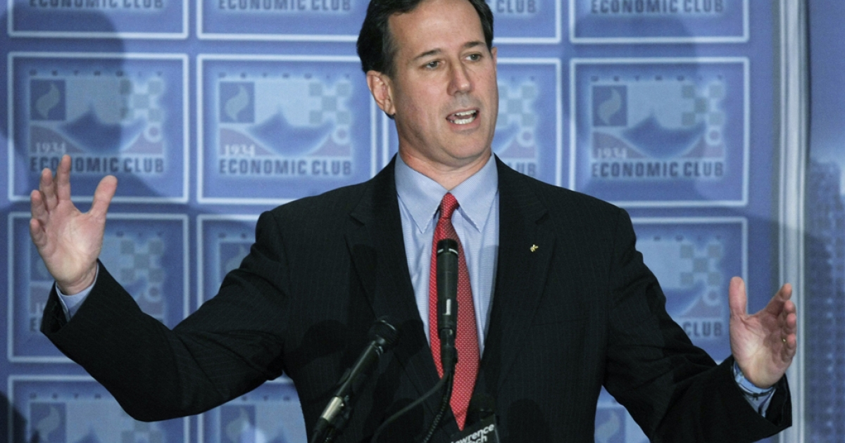 Republican presidential candidate Rick Santorum released four years of his tax returns, from 2007 to 2010, Wednesday night.</p>