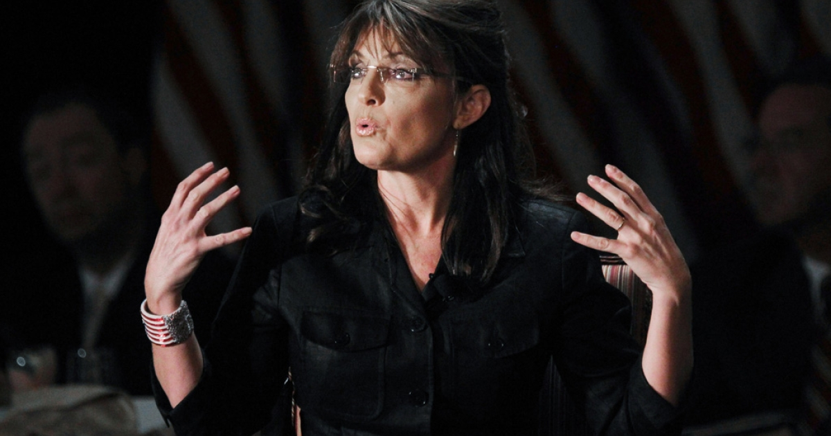Former Alaska governor and Republican vice president candidate Sarah Palin speaks at the Long Island Association's annual meeting, Feb. 17, 2011 in Woodbury, New York.</p>