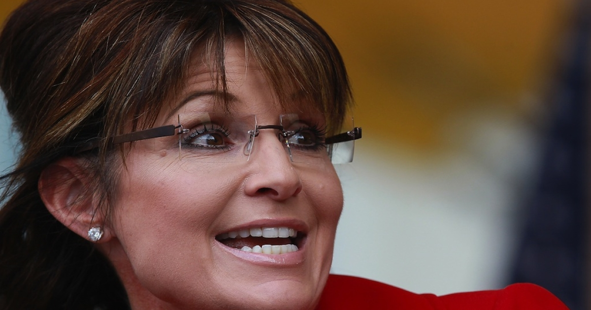 Former Alaska governor Sarah Palin speaks during a Tea Party Express rally on Sept. 5, 2011, in Manchester, New Hampshire.</p>