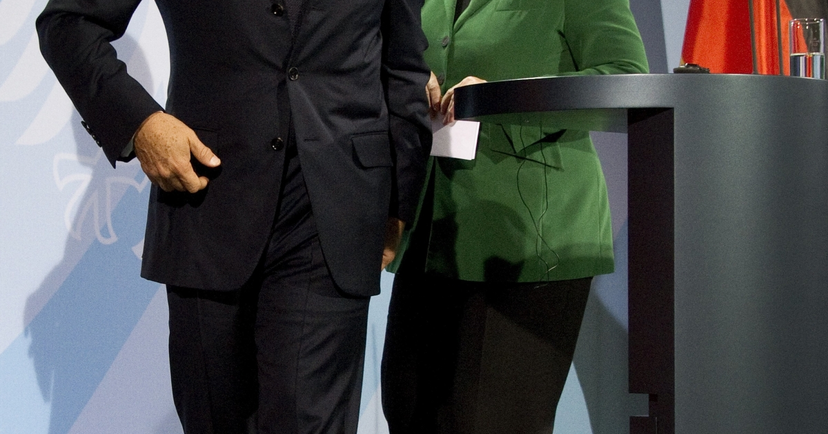French President Nicolas Sarkozy and German Chancellor Merkel hold talks in Frankfurt to come to an agreement over the eurozone crisis.</p>
