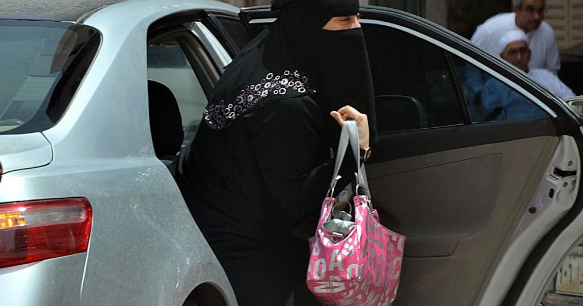 A Saudi woman gets out of a car after being given a ride by her driver in Riyadh on May 26, 2011 as a campaign was launched on Facebook calling for men to beat Saudi women who drive their cars in a planned June protest against the ultra-conservative kingdom's ban on women taking the wheel.</p>