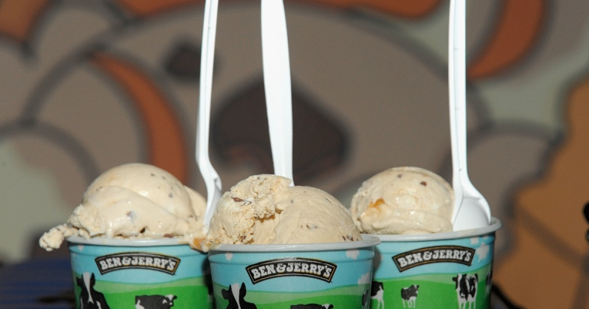 Ben &amp; Jerry's is getting some heat with its new Schweddy Balls flavor. Pictured above is the Vermont-based ice cream company's less controversial flavor Bonnaroo Buzz Ice Cream.</p>