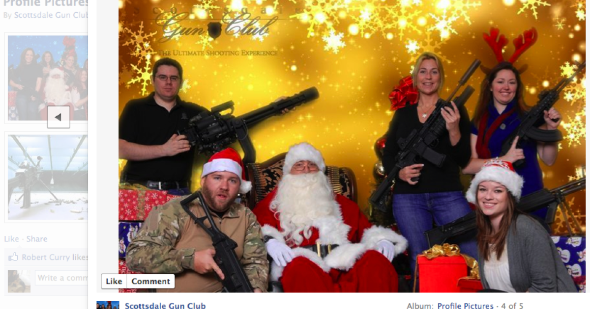 The Scottsdale Gun Club offers the chance to have a holiday photo taken with Santa Claus and a gun, for $10.</p>