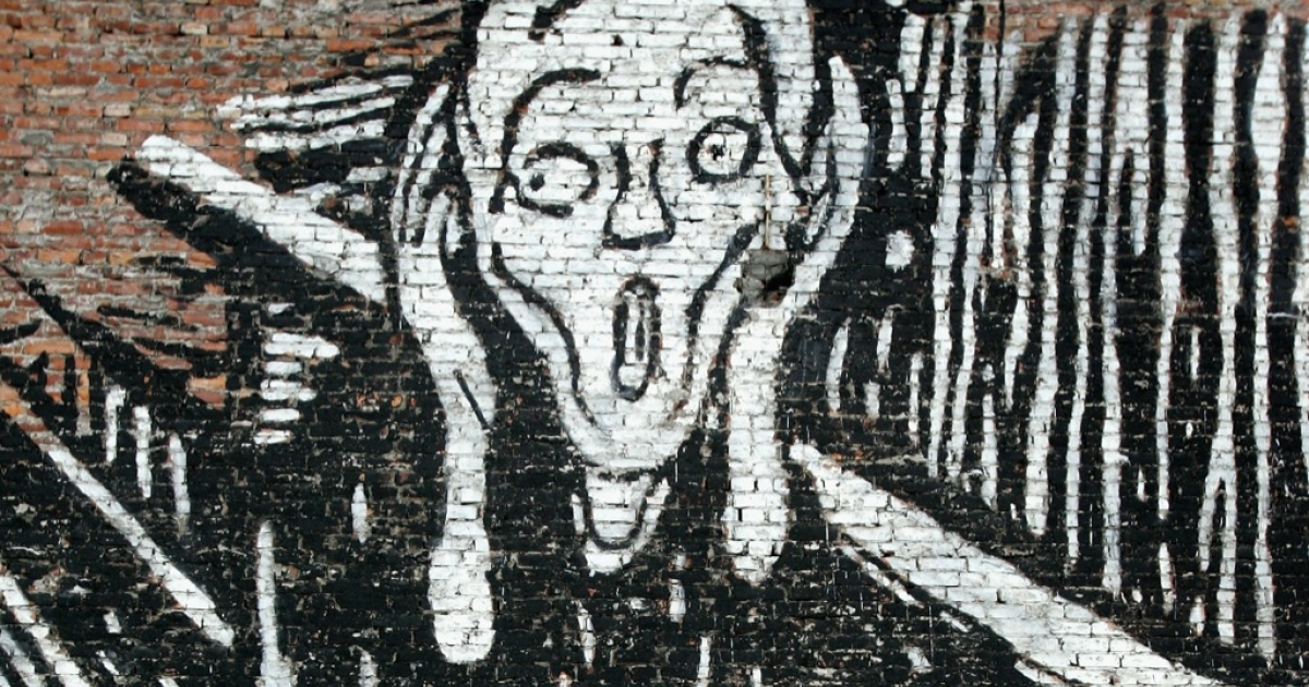 Edvard Munch's 'The Scream' has become an iconic image, as depicted here in graffiti on the side of the artist's home. When one of the originals is auctioned in May, 2012 it could demand among the highest prices ever for a painting.</p>