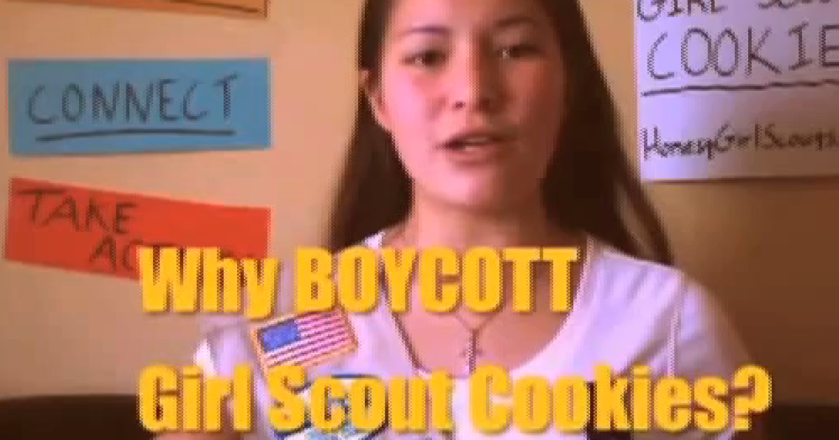 This girl, identified as Taylor, made a YouTube video asking people to stop buying Girl Scout Cookies after a Colorado troop allowed a transgender child to join.</p>