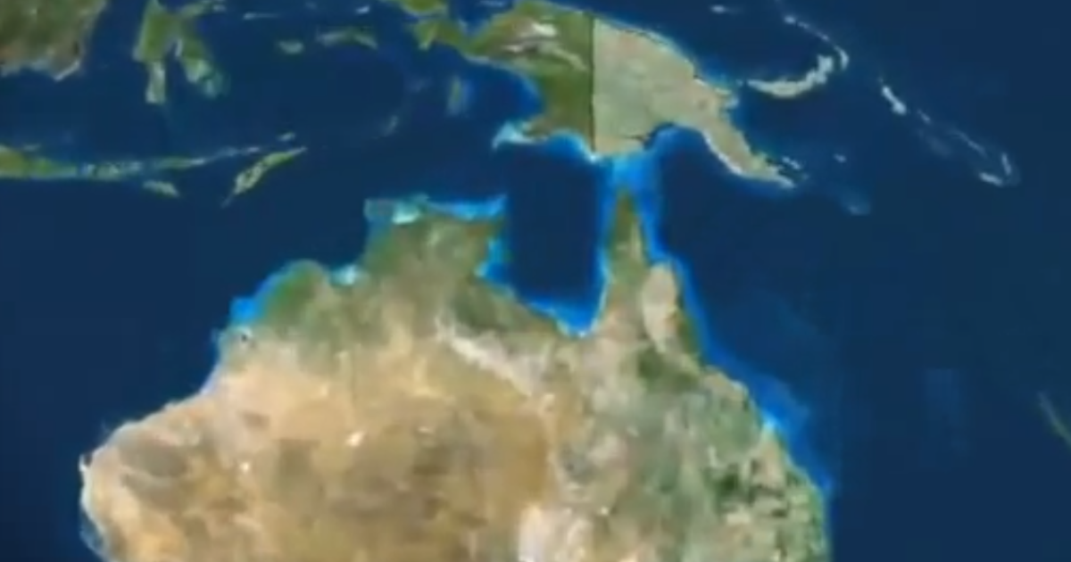 A map showing Papua New Guinea, north of Australia, used by Sky News in coverage of the ferry sinking.</p>