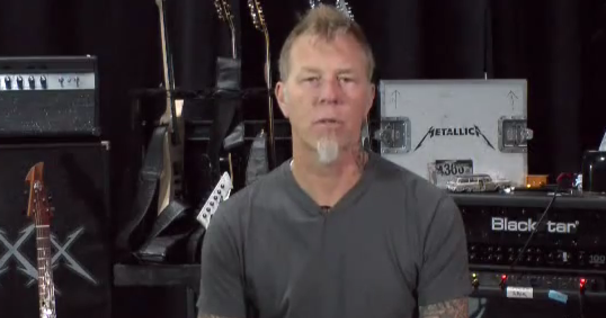 Metallica's lead singer, James Hetfield, asks fans to come forward with any information regarding the murder of Morgan Harrington.</p>