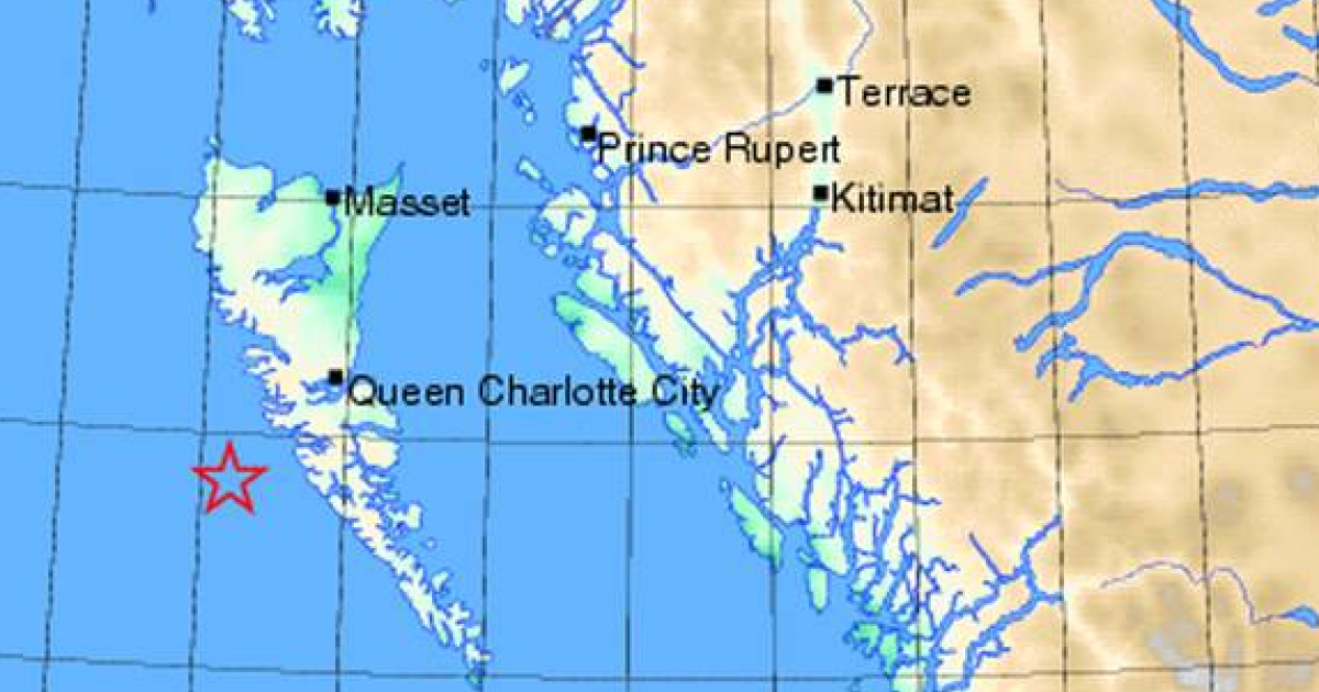 The quake struck 123 miles south-southwest of Prince Rupert — in the Queen Charlotte Islands region, also known as Haida Gwaii.</p>