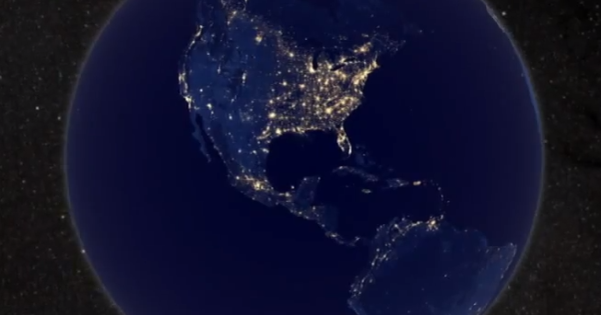 A screengrab of the NASA video, Earth at Night, shows our globe in great detail.</p>