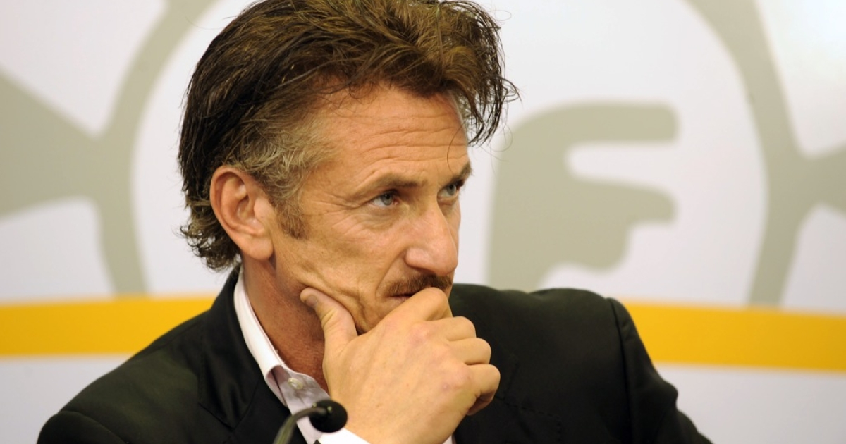 Sean Penn on a recent tour of South America</p>