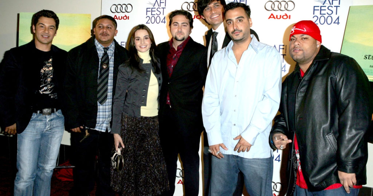 The cast of the 2005 film Secuestro Express (Express Kidnap) which highlighted the problems of security in Venezuela. (Photo by Frazer Harrison/Getty Images)</p>