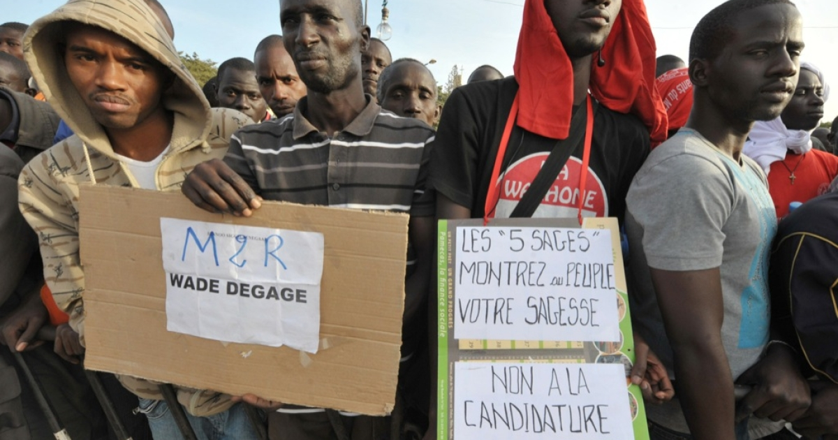 Senegalese in Dakar opposed the candidacy of President Abdoulaye Wade for the highly disputed third term in office. Senegal's top court said President Wade could seek a third term in office but rejected the candidacy of music icon Youssou N'Dour.</p>