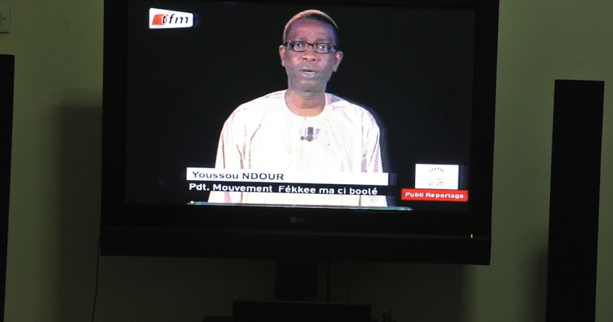 Senegalese singer Youssou N'dour announces on January 2, 2012 in Dakar that he was running for president against incumbent Abdoulaye Wade in the Feb. 26 elections.