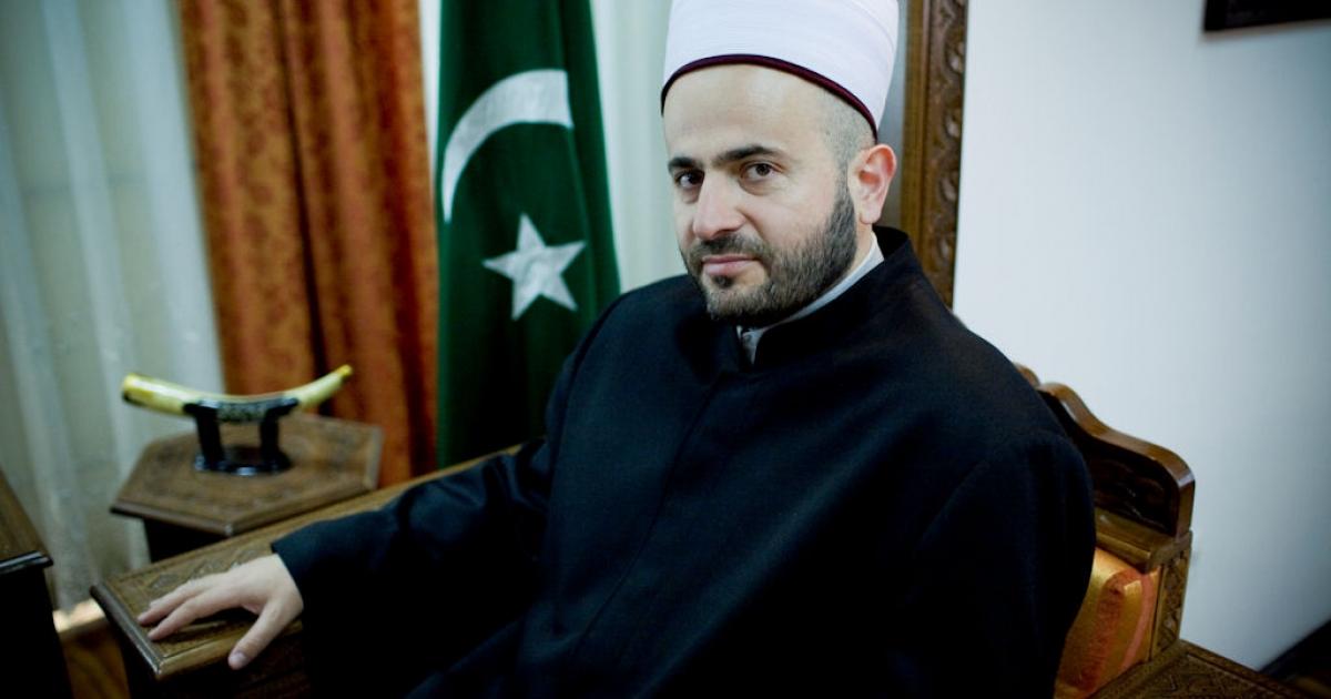 Bosniak mufti Muamer Zukorlic photographed in his office in Novi Pazar, Serbia on Oct. 25, 2010.</p>