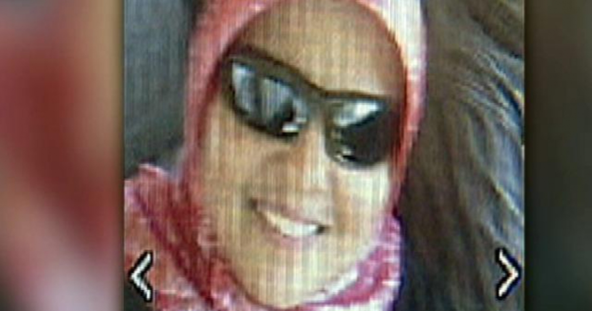 Shaima Alawadi is seen wearing sunglasses and a hijab in this image posted to a Facebook page created in her memory.</p>