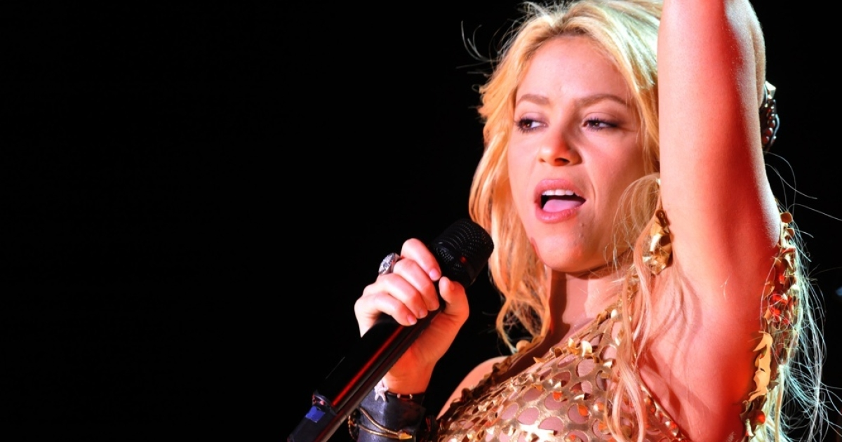 Colombian singer Shakira performs during the 10th edition of the Mawazine international music festival
