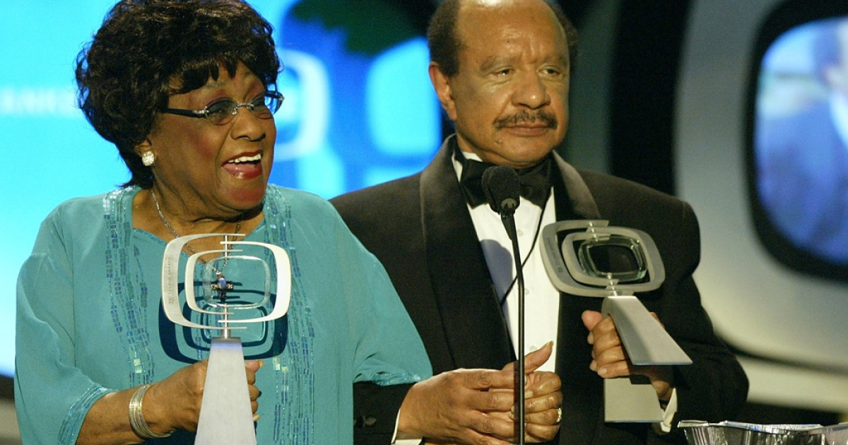 Actors Isabel Sanford, left, and Sherman Hemsley speak at the 2nd annual TV Land Awards at The Hollywood Palladium, on March 7, 2004, in Hollywood, California.</p>