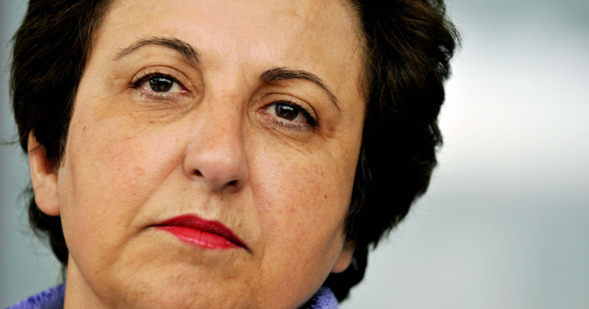 Iranian Nobel peace laureate Shirin Ebadi, a prominent Iranian activist.</p>