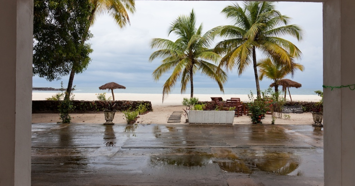 TOKEH BEACH, Sierra Leone.</p>