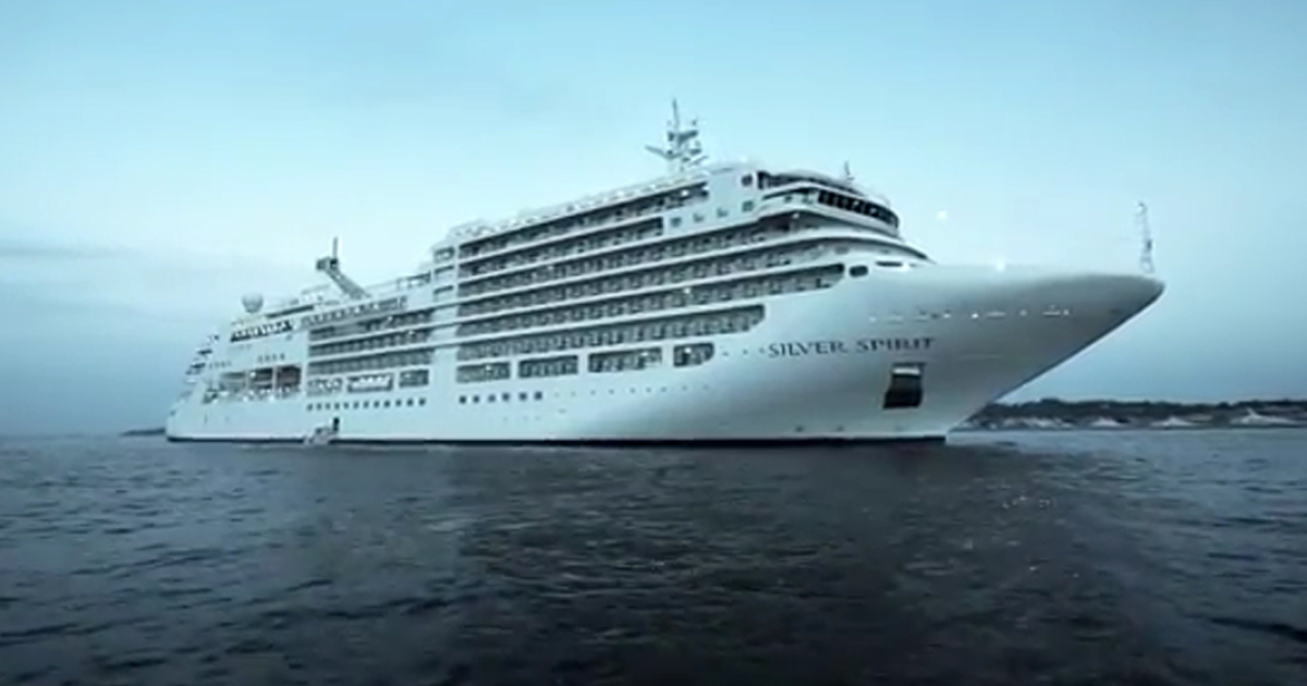 A cruise ship appears in this still image taken from a promotional YouTube video for Silversea Cruises.</p>