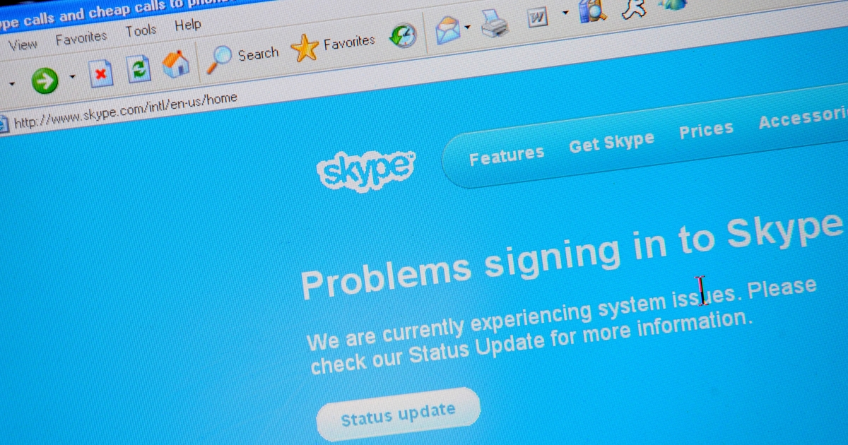 A Dec. 23, 2010 photo shows a page from the internet telecom site Skype, to be purchased by Microsoft for $8.5 billion.</p>