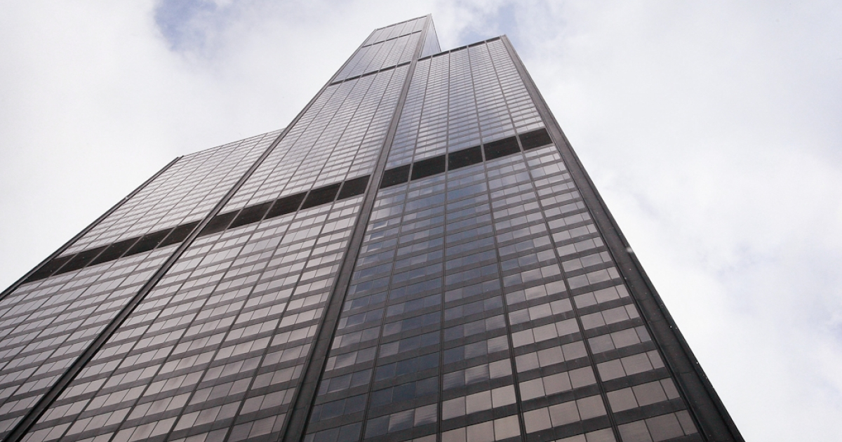 Chicago's Willis Tower, previously known as the Sears Tower, rises above the city's skyline.</p>
