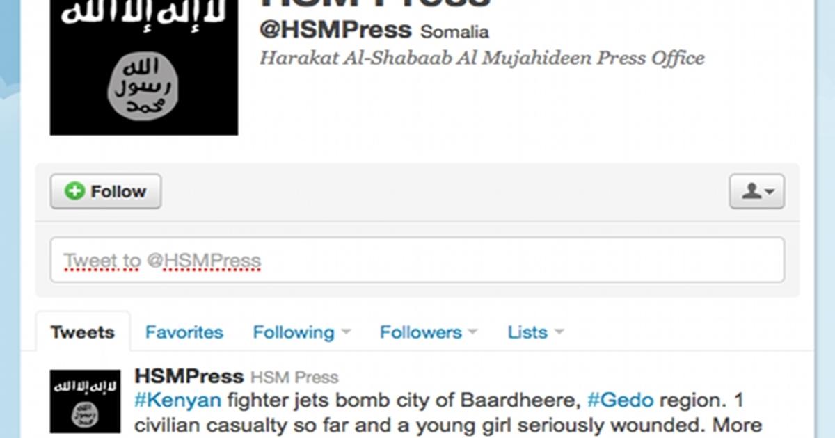 Al Shabaab's Twitter profile.</p>