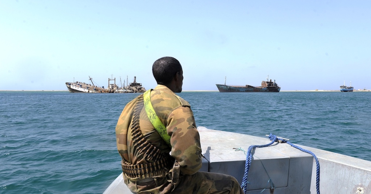 On March 30, 2011, a Somali coastguard patrols off the coast of Somalia's breakaway Republic of Somaliland, where piracy has flourished and turned increasingly violent.</p>
