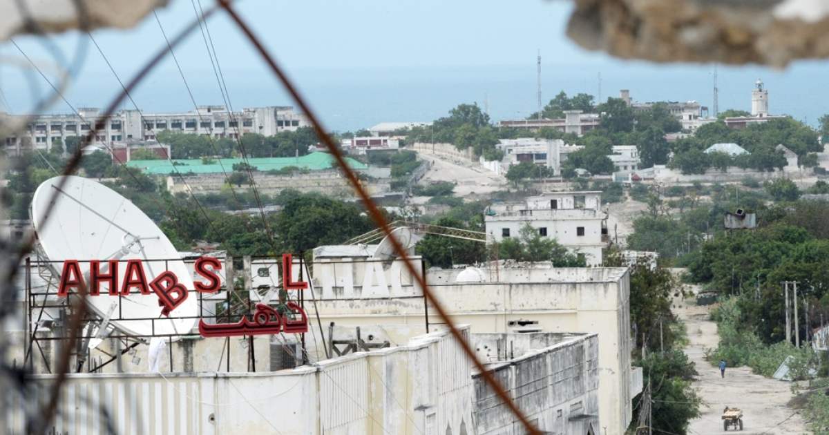 Villa Somalia, the Somali presidential palace in Mogadishu, at top left, has been fired upon by Al Shabaab rebels. The attacks have killed civilians and highlight the tenuous hold that the Somali government and the African Union forces have on Mogadishu.</p>