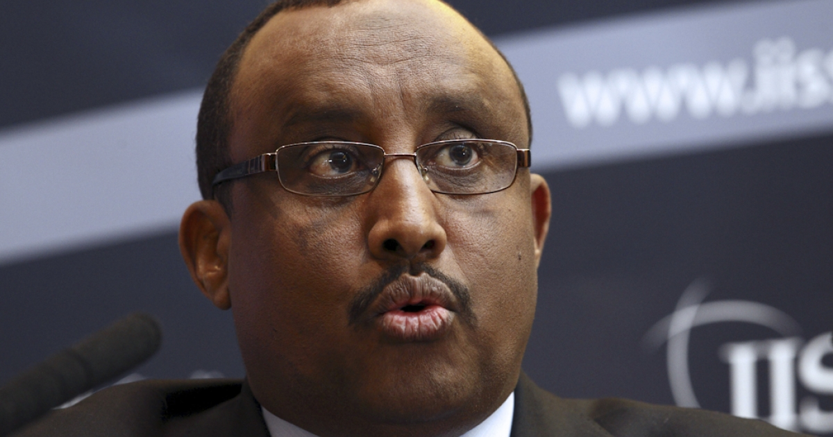 Somali Prime Minister Abdiweli Mohamed Ali speaks at the International Institute for Strategic Studies (IISS) in London on February 22, 2012. Ali said on February 22 the country was entering an era of peace and stability after two decades of unrest, on the eve of a major conference to discuss its future.</p>