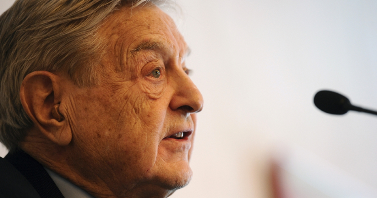 Retired hedge fund manager George Soros at Davos today.  He expressed concern that the euro zone's austerity policies would create social unrest that would engulf Europe.</p>