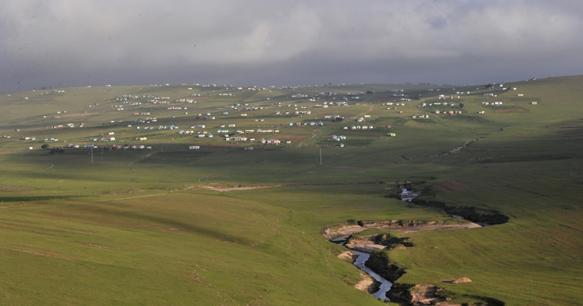 The village of Qunu, near Mthatha in South Africa's Eastern Cape, where former president Nelson Mandela grew up, and where he spends most of his time today.</p>