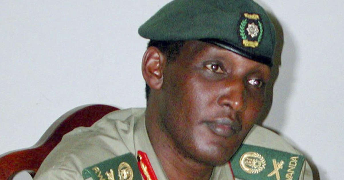 A picture taken in 2001 shows Rwandan Army Chief of Staff, Major General Faustin Kayumba Nyamwansa during a press conference at Camp Kigali. The former army chief, who later became Rwandan ambassador to India, fled into exile in South Africa via Uganda and then Kenya. In South Africa he has survived assassination attempts.</p>