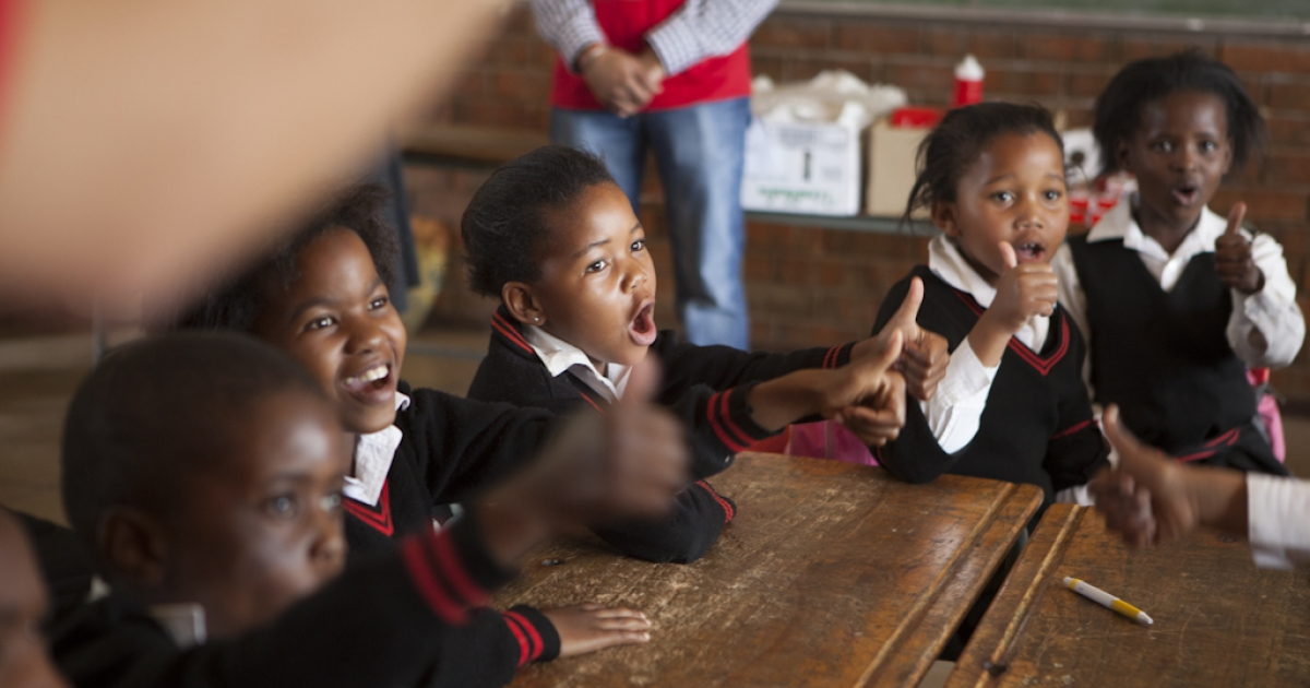 Children learn to wash their hands with Lifebuoy soap, at Margeret Gwele Primary School, Soweto,  on October 15, 2012 in Johannesburg, South Africa. Celebrated in over 100 countries, Global Handwashing Day is an annual awareness day which aims to put the global spotlight on handwashing with soap as a lifesaving habit.</p>