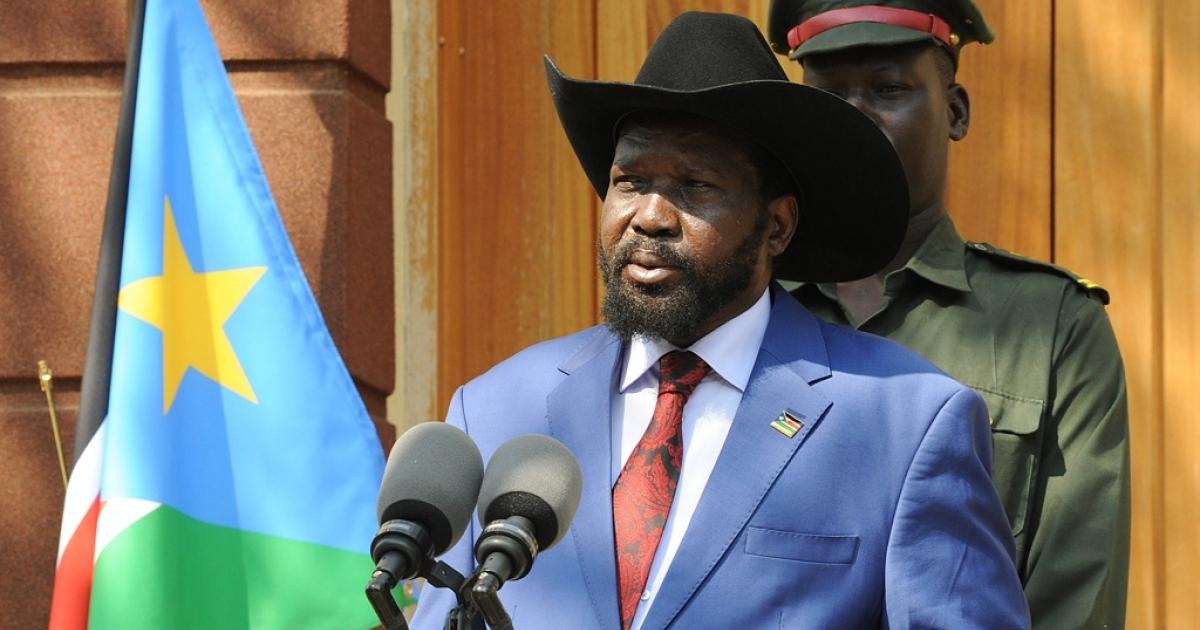 South Sudan President Salva Kiir</p>