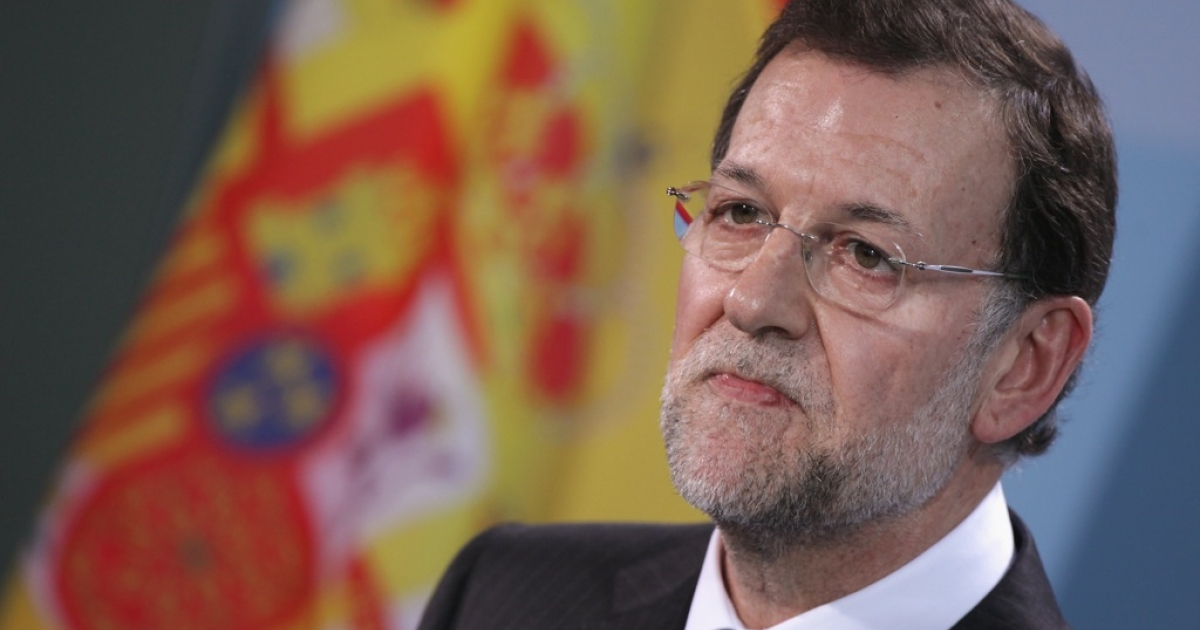 Spanish Prime Minister Mariano Rajoy taking part in EU debt crisis talks last month in Berlin, Germany.</p>