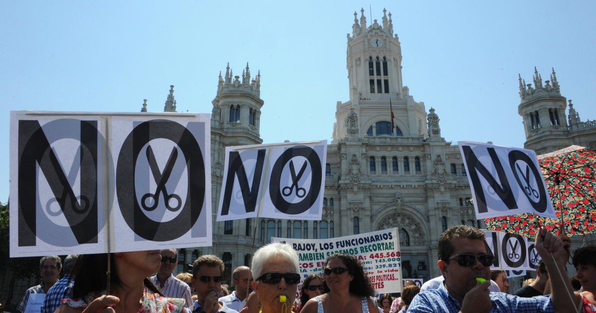 Spanish workers have protested against austerity measures this week.</p>