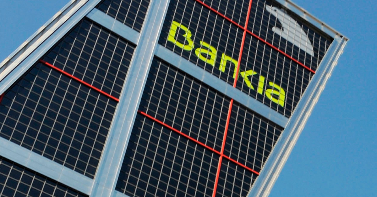 The Madrid headquarters of the troubled Spanish savings bank, Bankia.</p>