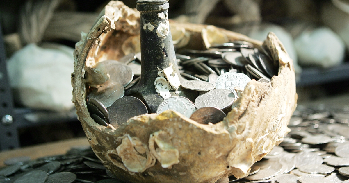 Treasure recovered from the sunken Spanish ship