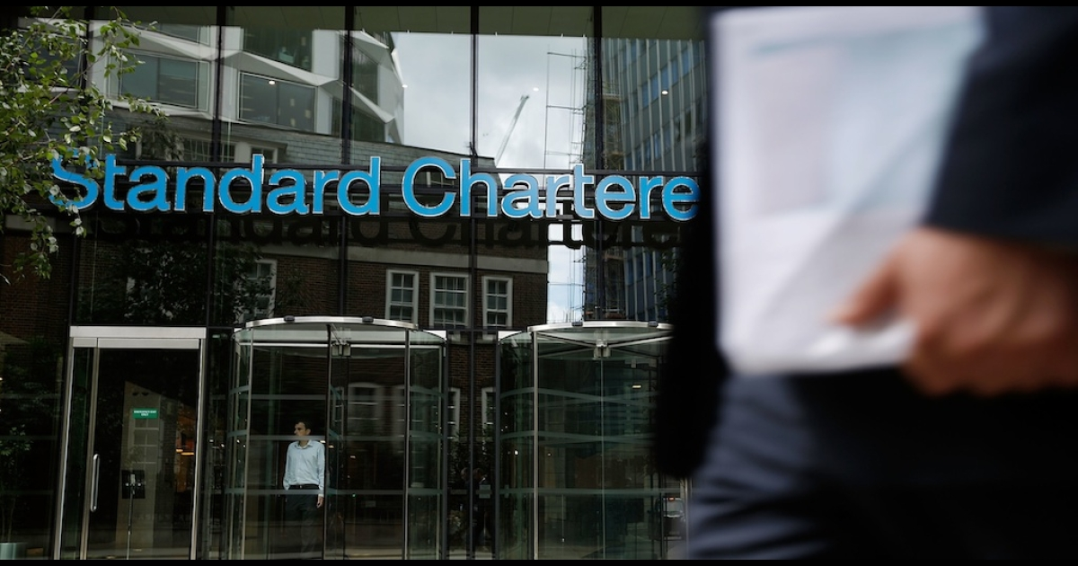Shares in Standard Chartered rebounded today after the bank's chief executive, Peter Sands, rejected allegations of money laundering.</p>