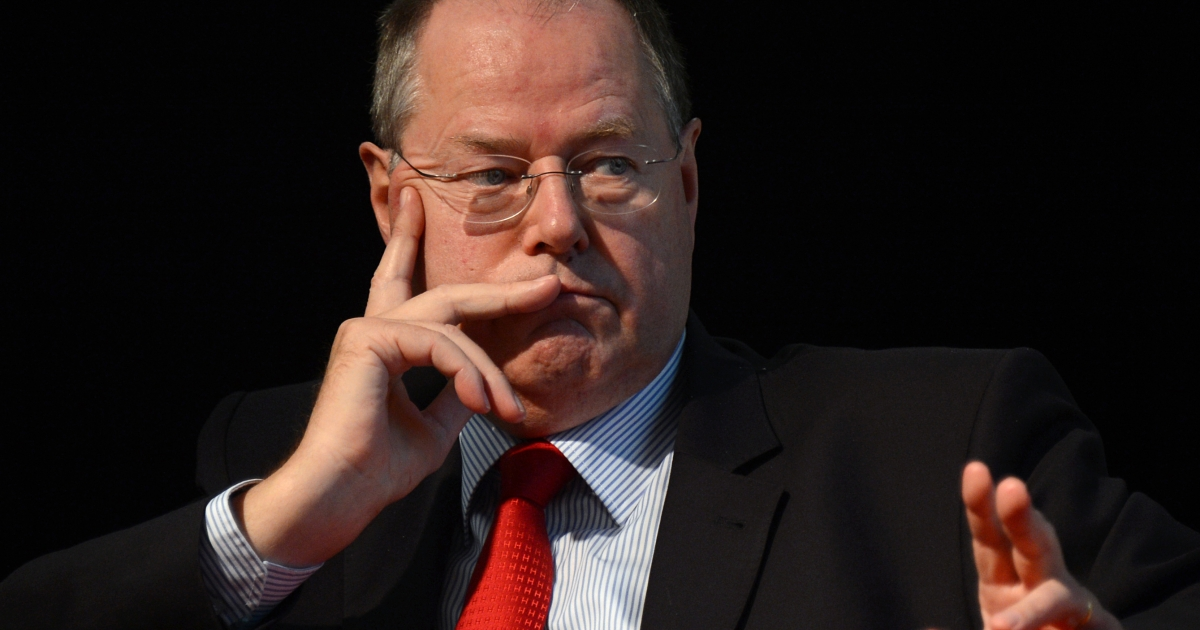 Peer Steinbrueck hopes his strong financial credentials will make him a credible alternative next year.</p>