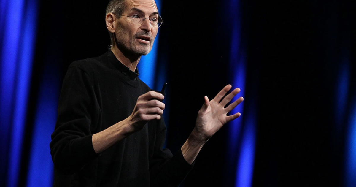 Apple CEO Steve Jobs delivers the keynote address at the 2011 Apple World Wide Developers Conference at the Moscone Center on June 6, 2011 in San Francisco, California.</p>
