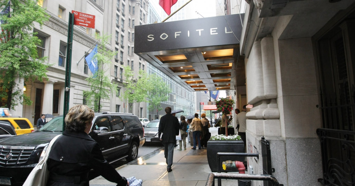 The midtown Manhattan Sofitel, where International Monetary Fund Managing Director Dominique Strauss-Kahn allegedly sexually assaulted a hotel employee.</p>