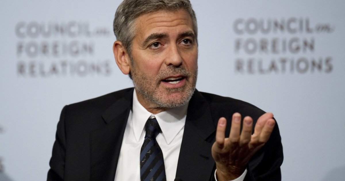 Actor George Clooney addresses the Council on Foreign Relations regarding to the situation in Southern Sudan, Mar. 13, 2012 in New York.</p>