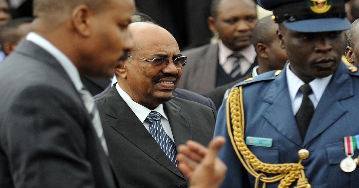 Sudan's President Omar al-Bashir attends the promulgation of Kenya's new constitution ceremonies in the capital, Nairobi, on Aug. 27, 2010.</p>