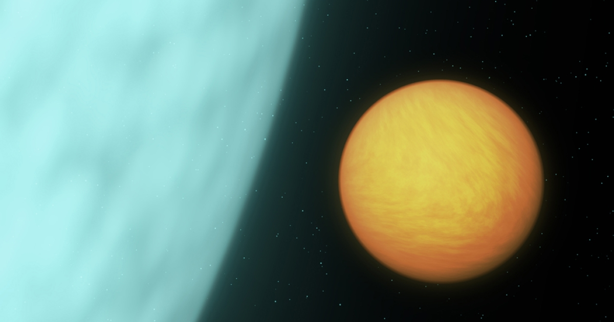 The light from an alien 'super-earth' was detected by a NASA space telescope. Above: artist's conception.</p>