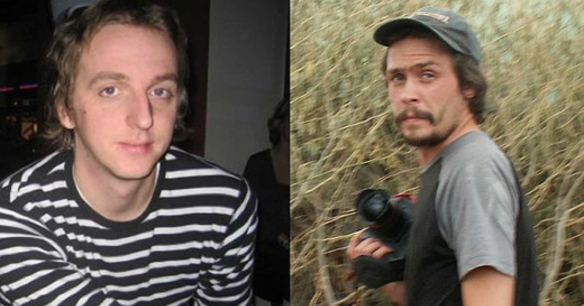 Swedish journalists Martin Schibbye (left) and Johan Persson (right). An Ethiopian court found them guilty of supporting terrorism. They could be jailed in Ethiopia for up to 15 years.</p>